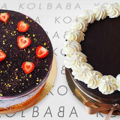 Borůvkový nebo smetanový sachr dort z Kolbaby