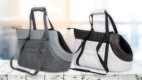 Luxusní cestovní taška z eko kůže pro mazlíčky