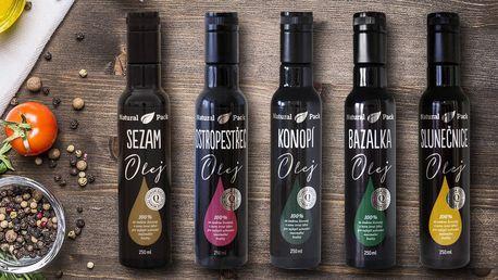 Rostlinné oleje lisované za studena