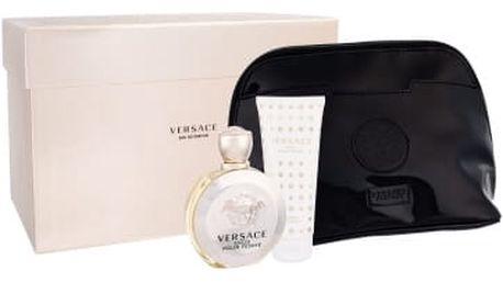 Versace Eros Pour Femme dárková kazeta pro ženy parfémovaná voda 100 ml + tělové mléko 100 ml + kosmetická taška