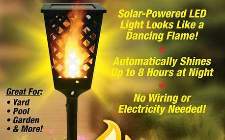 Solární lampa s plápolajícím světlem Tiki Light