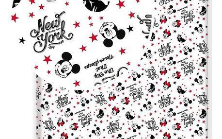 Jerry Fabrics Dětské bavlněné prostěradlo Mickey and Minnie in New York love, 90 x 200 cm