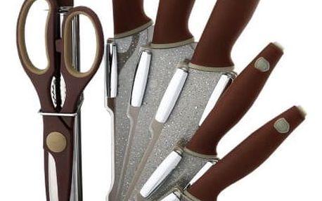 Berlinger Haus 8dílná sada nožů ve stojanu Granit Diamont Line