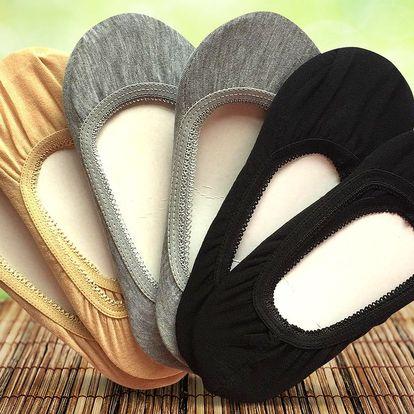 6 párů bambusových ponožek do balerínek