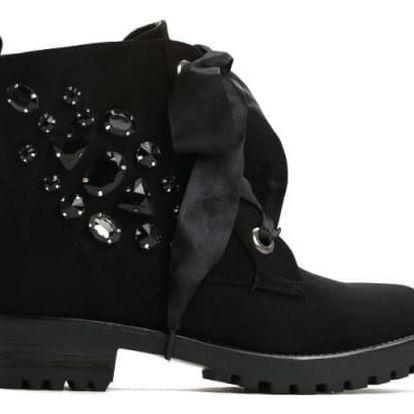 Dámské černé kotníkové boty Brilante 1293
