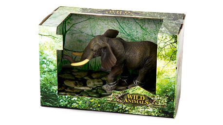 Slon šedá, 17 cm