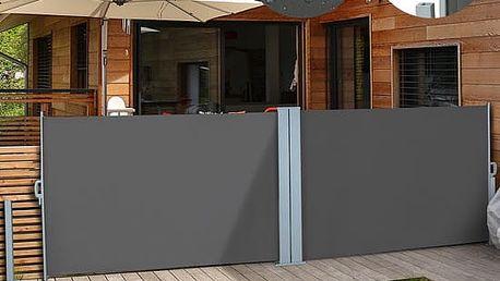 Venkovní zástěna výška 1,8m délka 6m HT180-6 šedá Hometrade