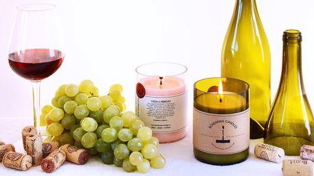 Svíčky s vůní vína: cabernet, champagne i set