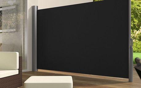 Venkovní zástěna výška 2m délka 3m HT200-3 černá Hometrade