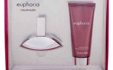 Calvin Klein Euphoria dárková kazeta pro ženy parfémovaná voda 30 ml + tělové mléko 100 ml