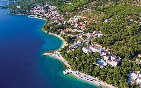 Chorvatsko - Střední Dalmácie na 8 až 11 dní, polopenze nebo snídaně s dopravou vlastní 50 m od pláže