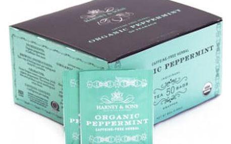 Harney & Sons Peppermint Organický mátový bylinný čaj 50 sáčků