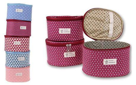 Sada tří kosmetických kufříků ve 3 velikostech a v 5 barevných variantách