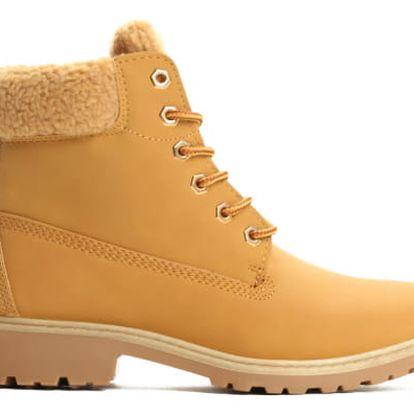 Dámské hnědé kotníkové boty Chile 6191