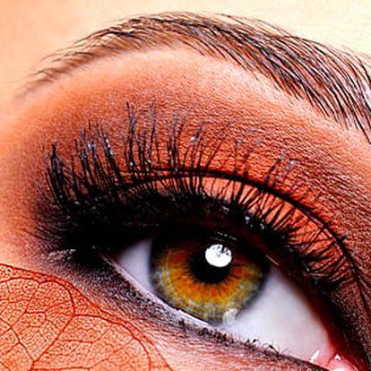 Profesionální úprava obočí a řas s výběrem vhodné barvy od zkušené kosmetičky ve studiu Step.