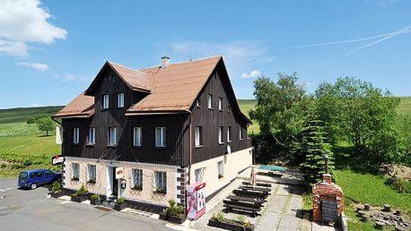 Krušné hory, 3-6 dní pro 1 os. s plnou penzí v hotelu Arnica