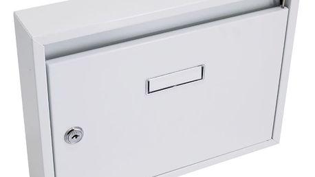 G21 Schránka poštovní paneláková 325x240x60mm šedá bez děr