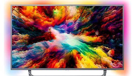 Televize Philips 50PUS7303 stříbrná