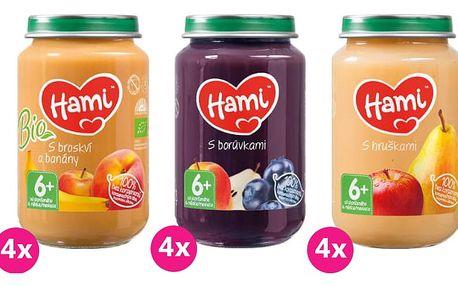 20x 200 g HAMI ovocný příkrm (MIX)