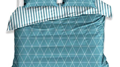 TipTrade Bavlněné povlečení Vesmír tyrkysová, 140 x 200 cm, 70 x 90 cm