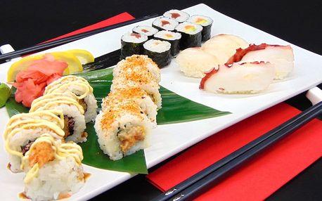 Sushi sety s 18 nebo 20 kousky i vege varianta