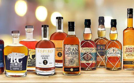 Výběr rumů z Jamajky, Barbadosu i Nikaraguy