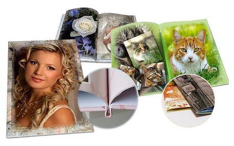 Fotokniha A4 s vašimi fotografiemi v pevné vazbě s 32, 60, 80 nebo 120 stranami