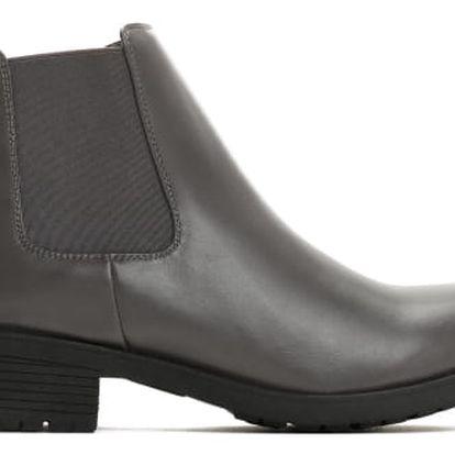 Dámské šedé kotníkové boty Larra 6179