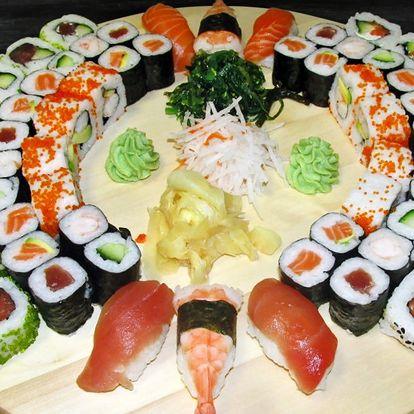Set se 62 kousky sushi: kreveta, losos i avokádo
