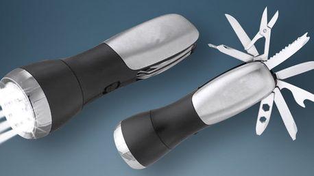 Multifunkční svítilna se sadou 13 různých nástrojů