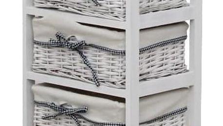 Tempo Kondela Komoda Ruby bílá, 90 cm