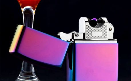 Větruvzdorný plazmový USB zapalovač - 5 barev