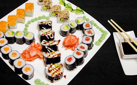 Sushi sety s 20–31 ks vč. vegetariánské varianty