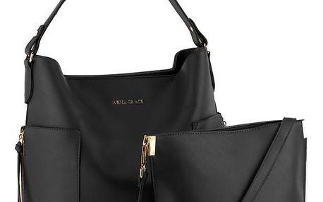 SET: Dámská černá kabelka Alayna 696