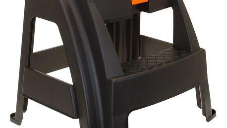 Zahradní stolička s úložným prostorem, černá