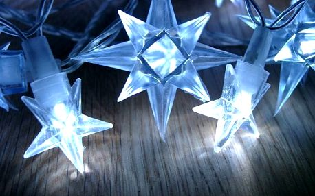 Nexos 1006 Vánoční LED osvětlení - hvězdy modré 4 m