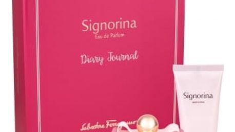 Salvatore Ferragamo Signorina dárková kazeta pro ženy parfémovaná voda 100 ml + tělové mléko 100 ml