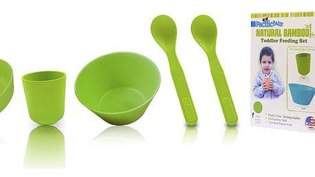 PACIFIC BABY Bambusové nádobí - velká sada zelená