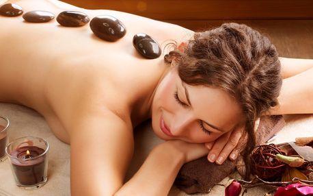 Královská masáž lávovými kameny v délce 60 minut