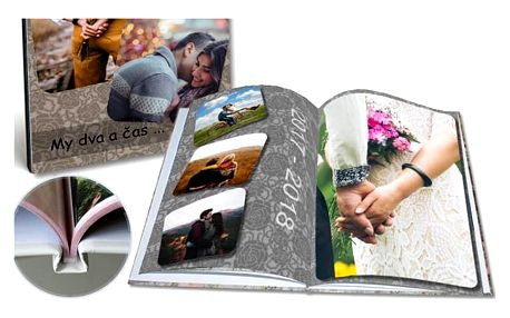 Luxusní fotokniha A4 s vašimi fotografiemi v pevné vazbě s 24 nebo 40 stranami