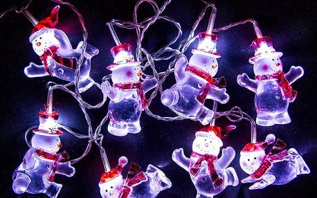 Světelný řetěz Sněhulák, 8 LED