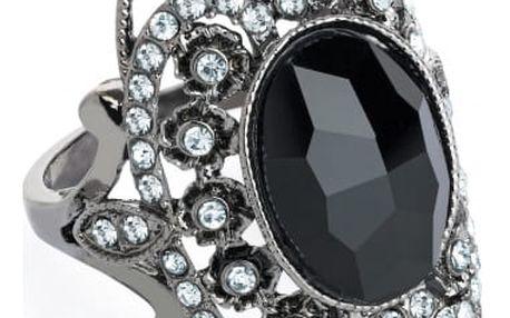 Prsten v černé barvě Britney 31486