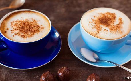 2 kávy dle výběru: caffé latte či cappuccino