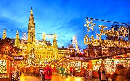 1denní adventní zájezd pro 1 osobu do rakouské Vídně. Vychutnejte si všechny vůně a chutě.