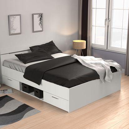 Demeyere postel bílá MACHIGAN 140x200