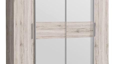 CALIDO šatní skříň CIDS52311, dub pískový/bílá DOPRODEJ