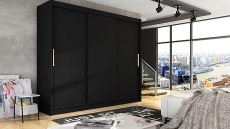 Šatní skříň ASSTON II, černý mat