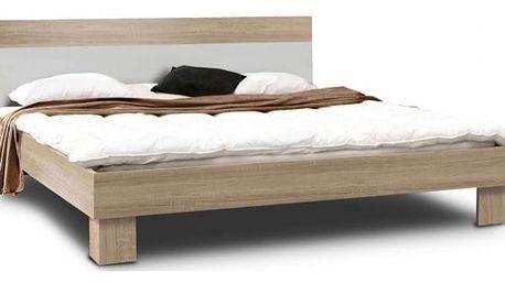 GOULDSTAR, postel 160x200 cm, dub sonoma/bílá
