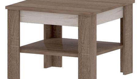 VENNECIA A, konferenční stolek, dub sonoma truflový/dub craft bílý