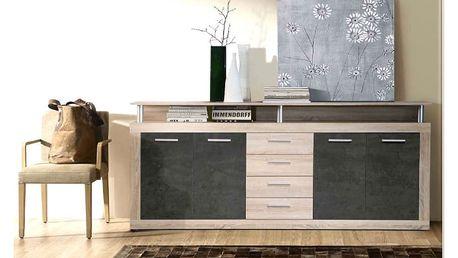 Komoda KAVA, dub sonoma/beton